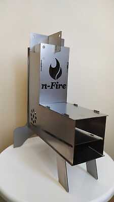 n-Fire Rocket Stove - Portable Quality Wood Burner Collapsible Camp & Tent Stove