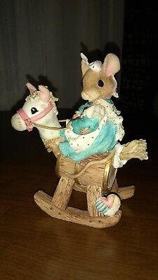New 1995 Enesco Mouse Tales Priscilla Hillman I Had a Little Hobby Horse  023/98
