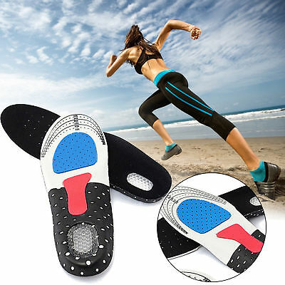 1 Pair Silicone Gel Plantar Fasciitis Orthotic Insoles Arch Support Shoe Pads