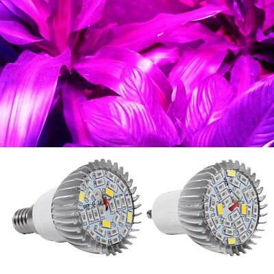 28W E14/GU10 LED Grow Light Lamp Bulb Plant Hydroponic Full Spectrum 85V-265V
