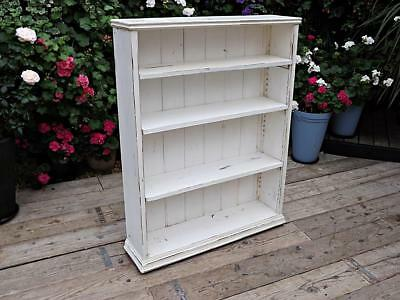 Old Antique Pine/painted Adjustable Bookcase/shelves/shabby Chic. We Deliver!
