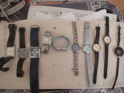 Job Lot Of 10 Working Watches--1 Day Sale