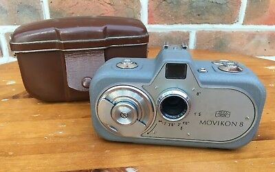 Zeiss Movikon 8 Vintage Movie camera  with original case and instructions