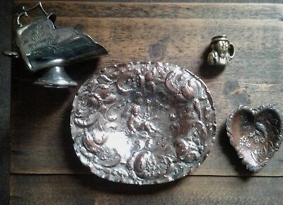 Quality antique metal ware job lot.