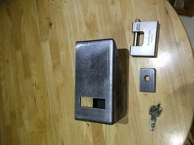 2 shipping container lock box  kit parts only  5.00 mm steel &15.00 staple 2 set
