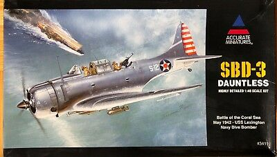 Bausatz Accurate Miniatures 3411 SBD-3 Dauntless Dive Bomber 1:48