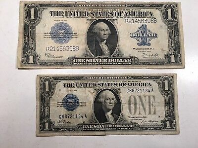 1923, $1 Large Silver Certificate, and 1928 $1 Silver cert.