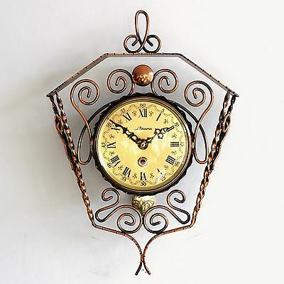 Vintage Dutch WALL CLOCK LIZANA TOP Condition!! Cast Iron & COPPER Mid Century