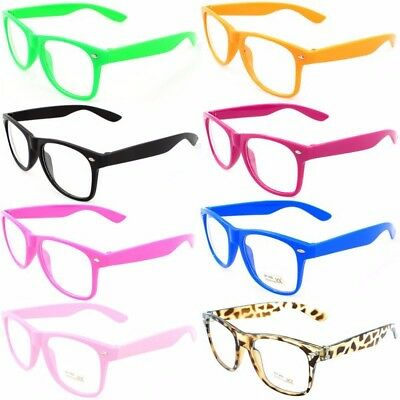 Fashion Glasses various colours with lens kids childrens adults geek Fancy dress