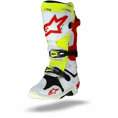 Alpinestars Tech 10 white red yellow Vented boots- Free shipping