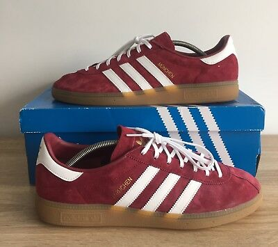 well known thoughts on shoes for cheap ADIDAS ORIGINALS MUNCHEN Burgundy/White/Gum Size 10 Mens ...