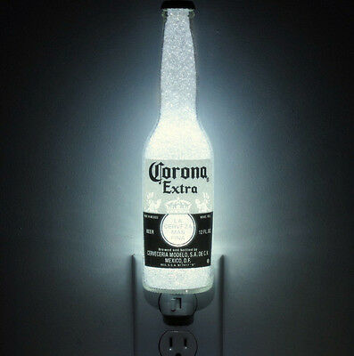Corona Mexico Beer 12 oz Night Light Bar Bottle Lamp 50,000 hr. LED Man Cave