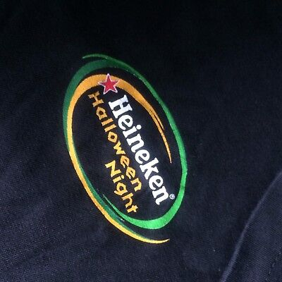 Heineken Black T-shirt Promo Halloween Size L Used