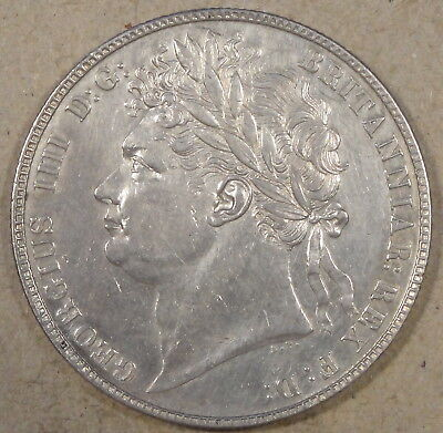Great Britain 1823 Half Crown XF-AU Cleaned