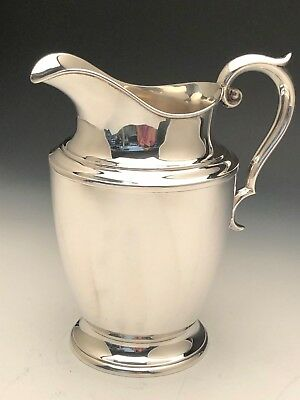 Beautiful Alvin Sterling Silver Water Pitcher, 4 Pints