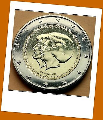 2 Euro Gedenkmünze Niederlande 2013 -Thronwechsel Beatrix & Willem-Alexander -