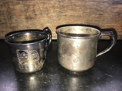 Sterling Silver ASIAN DESIGN Baby Cup 950, Sterling W Bell & Co. Cup - 140 grams