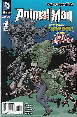 ANIMAL MAN ANNUAL 1...VF/NM...2012...New 52...Jeff Lemire...Bargain!