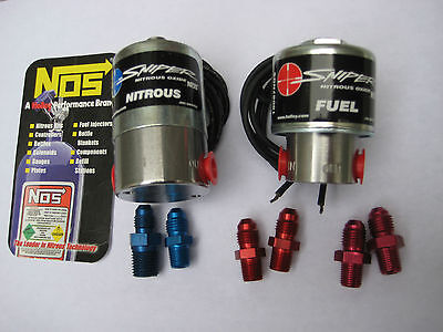 Nos/nx/zex/holley/ Sniper Cheater Nitrous+Fuel Solenoids 250Hp W/fittings *new!