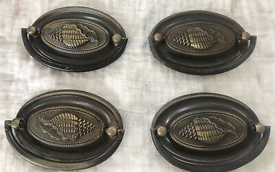 Set of  4 Vintage Antique Brass Drawer Cabinet Pulls Knobs - Many Lots Available