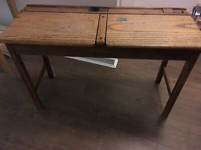 Vintage double school desk - infant school size - well made and sturdy