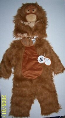 POTTERY BARN KIDS WWF Endangered Species Orangutan Costume 4-6 4 5 PBK Halloween