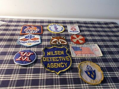 Vintage Misc Embroidered Patches Lot of 10
