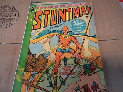 Vintage 1946 Stuntman Comics By Simon And Kirby No.1 Issue Original