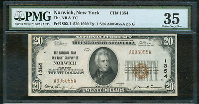 Norwich NY National Bank Note, Series 1929, PMG VF35