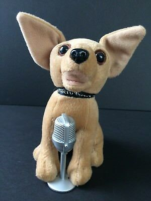 Taco Bell Chihuahua Dog with Microphone Plush Yo Quiero Taco Bell