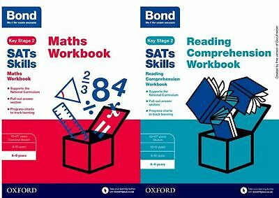 Bond Ks2 Sats Ages 8-9 Maths Reading & Comprehension Workbook Bundle