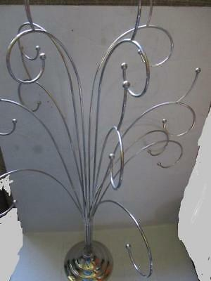 """Stainless Steel  Metal Scroll 25"""" Christmas Tree Ornament Display Stand"""