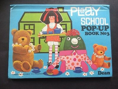 PLAY SCHOOL POP UP BOOK No 3 - Excellent Condition Published 1974