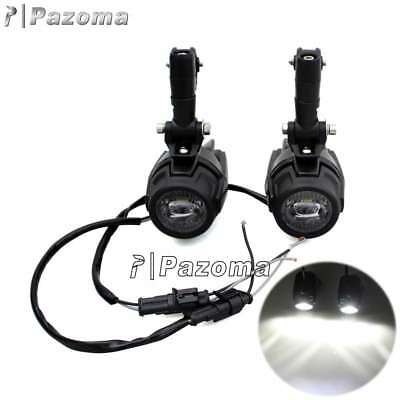 2x LED Auxiliary Fog Spot Driving Light Spotlight Lamp For BMW R1200GS ADV F800G