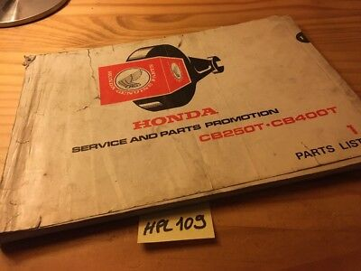 Honda CB250T CB400T CBT CB CM 250 400 parts list liste catalogue pièce