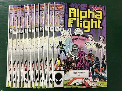 LOT OF 12 ALPHA FLIGHT #33 1st Appearance LADY DEATHSTRIKE VF TO NM OR BETTER