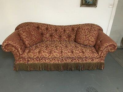 Stunning Red And Gold Baker Sofa