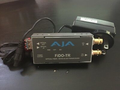 *TWO* AJA FiDO-TR 1-Channel Multi-Mode Fiber Transceiver (WITH POWER SUPPLIES)