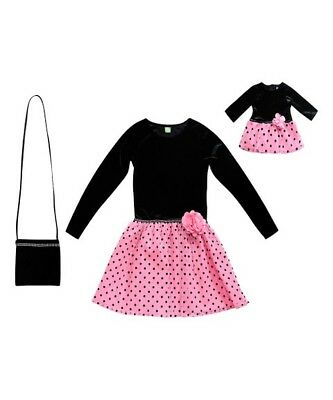 Dollie and Me Girls Dress Size 12 with Matching Doll Outfit NWT