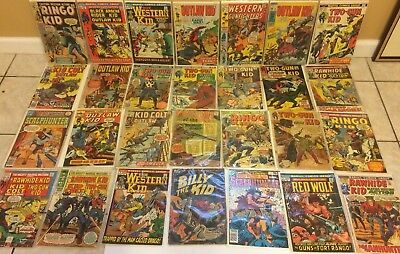 Western Mixed Pubisher Comic Book Lot DC Marvel Outlaw Kid Colt Rawhide Ringo