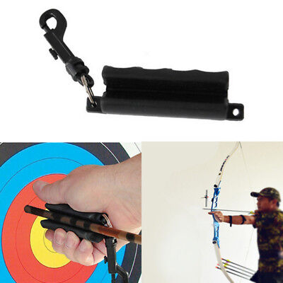 Archery Shooting Rubber Arrow Puller Recurve Bow Hunting Gripper Target Black PB