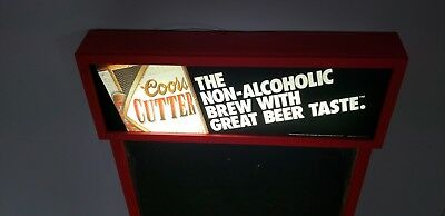 Rare Vintage 1992 COORS Cutter Non-Alcoholic Beer Light Up Advertising Menu Sign