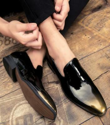 ab7d21c024f3 Men Pointed Toe Patent Leather Dress Weeding Casual Shoes Slip On Loafers  Formal