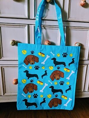 Dachshund Lightweight Plastic Tote Bag - Cute!
