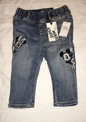 GAP Disney 12-18 mo MICKEY & MINNIE MOUSE Pants Jeans Leggings Jeggings $44.95