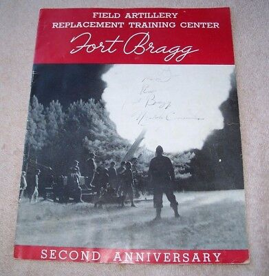 Wwii Us Army Field Artillery Replacement Training Center Fort Bragg Booklet 1942
