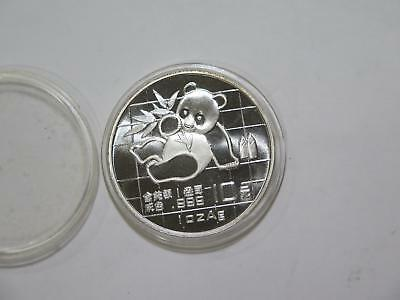 China 1989 10 Yuan Panda 999 Silver Type Gem Unc World Coin Collection Lot #sat