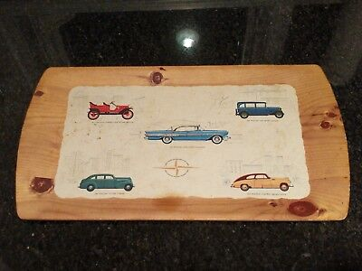 VINTAGE 1957 Pontiac Drink Tray Star Chief Catalina Advertising Dealer Promo