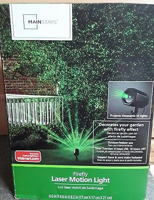 Mainstays Firefly laser motion light projects thousands of lights Indoor/Outdoor