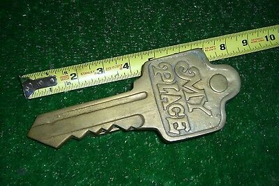 "ANTIQUE SOLID CAST BRASS KEY DOOR KNOCKER ""MY PLACE""  7.5"" x 3"" from 1986"
